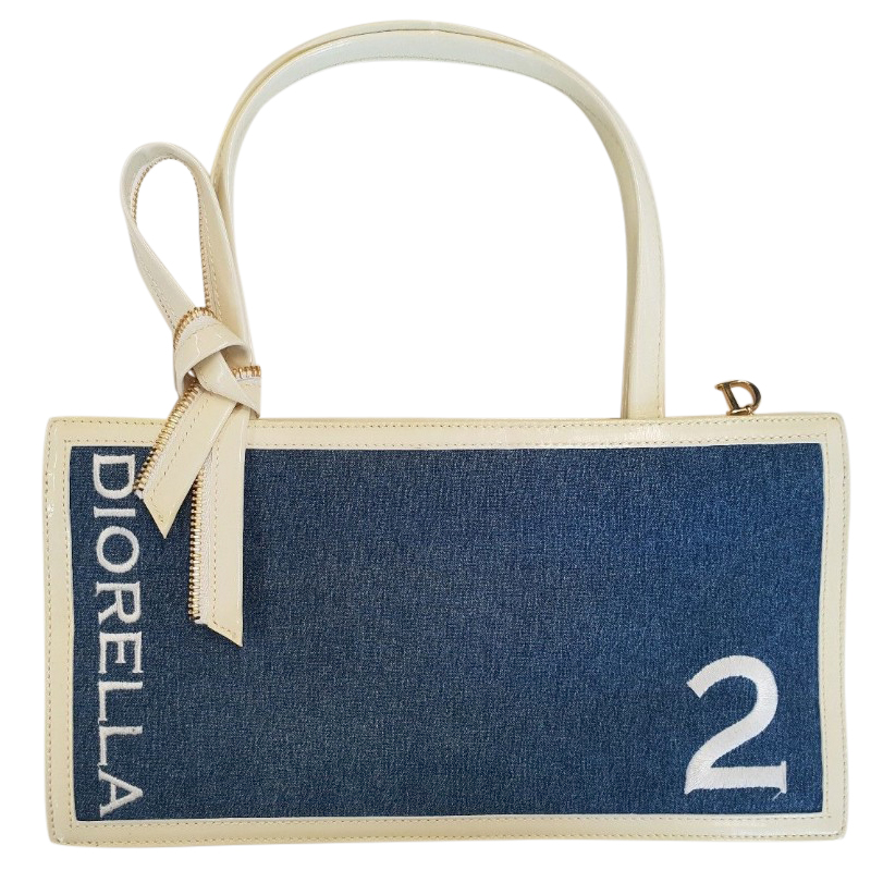 Christian Dior Diorella Denim Bag  da3d2747dab5e
