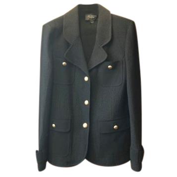 St John Black Wool Coat