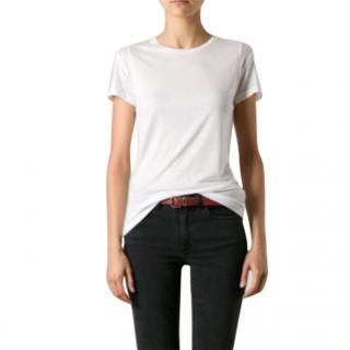 J Brand Women's White Crew Neck T-shirt