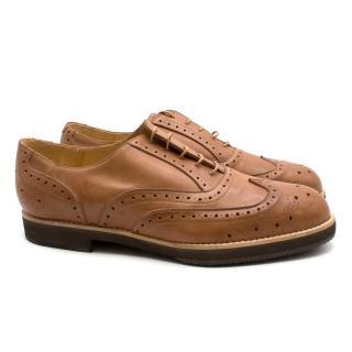 T & F Slack Shoemakers London Handmade Tan Brogues