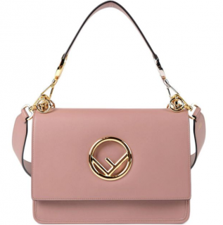 Fendi English Rose Kan I Logo Shoulder Bag