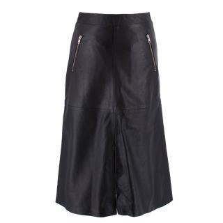 Gestuz Leather A-line Midi Skirt