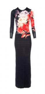 Jonathan Saunders Black Floral maxi dress