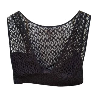 Missoni Knit Lace Cropped Bralet Top