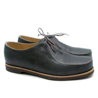 T&F Slack Shoemakers London Handmade Leather Lace Loafers