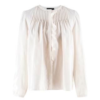 Isabel Marant Silk Pleated Blouse