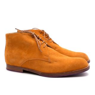 T&F Slack Shoemakers London Handmade Orange Boots