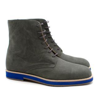 T&F Slack Shoemakers London Handmade Grey Boots
