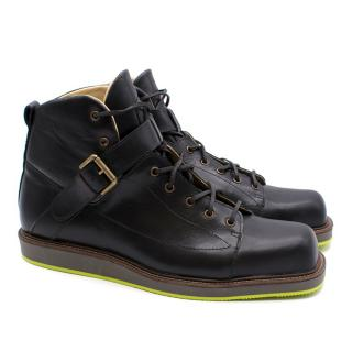 T&F Slack Shoemakers London Handmade Black Leather Boots