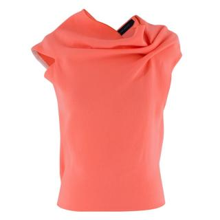 Roland Mouret Eugene Wool Open Back Neon Top
