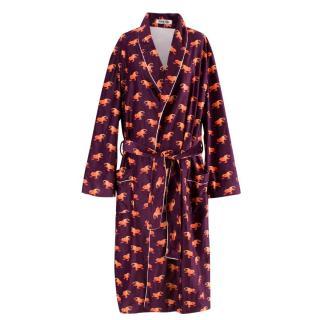 Katie Eary Men's Purple Lizard Print Robe