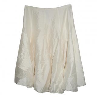 Tara Jarmon Ivory silk skirt