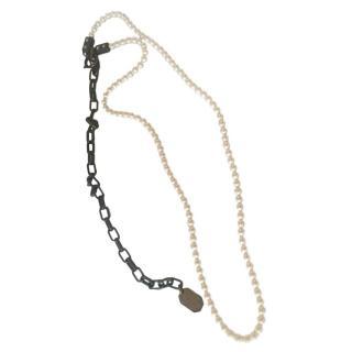 Lanvin Long Pearl Necklace