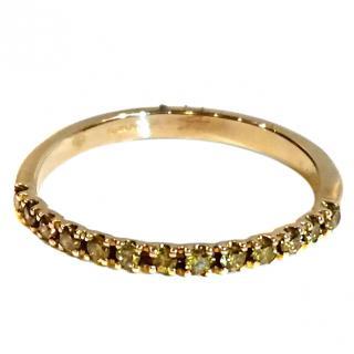 Bespoke Yellow Diamond Half Eternity Stack Ring