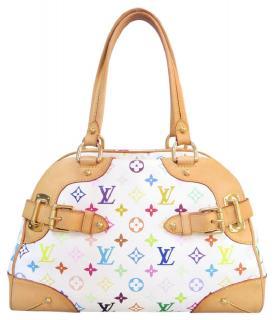 Louis Vuitton White Monogram Claudia Bag