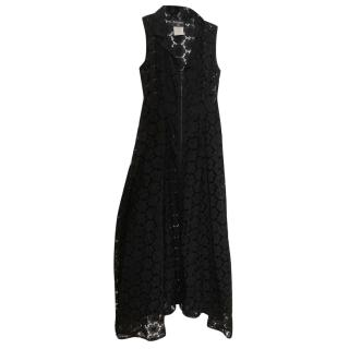 77934148 Chanel Zip-Through Crochet-Lace Dress