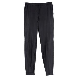 Muubaa London Leather Black Trousers