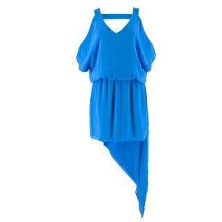 Michelle Mason Cold Shoulder Asymmetric Dress