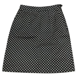 Yves Saint Laurent polka dot skirt