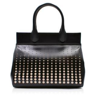 Alaia Monochrome Laser Cut Top Handle Bag