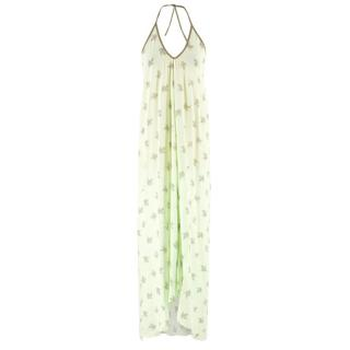 Hansine Green Halterneck Beach Dress
