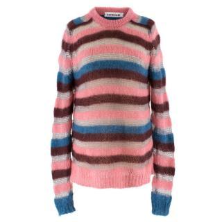 Katie Eary Men's Multicoloured Striped Wool Jumper