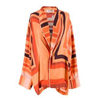 Katie Eary Men's Geo Print Orange Pyjama Top