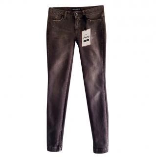 Dolce & Gabbana Mink Brown Skinny Jeans