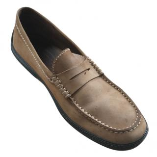 Tod's brown penny loafers