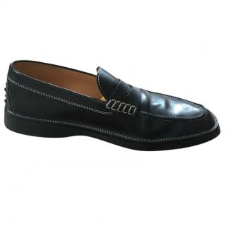 Tod's Men's Black Leather penny loafers