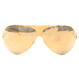 Mykita Franz Gold Mirror Sunglasses