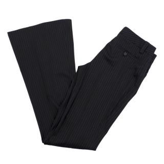 Gucci Wool-blend Pinstripe Flared Trousers