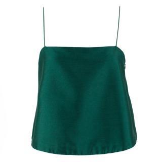 Club Monaco Silk & Wool Blend Cropped Cami Top