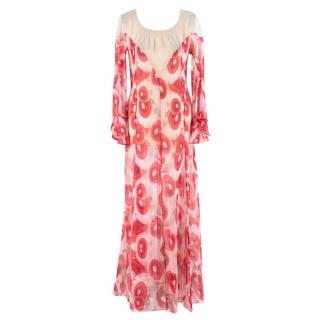 Katie Eary Bloodshot Eyes Maxi Cover Up Dress