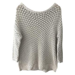 Maje open knit top