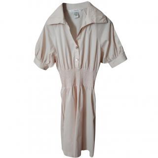 Diane Von Furstenberg pale blush shirt dress