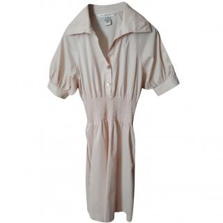 Diane Von Furstenberg pale blush shirt dress