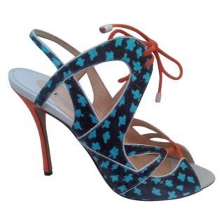 Nicholas Kirkwood Python Lace-up Sandals