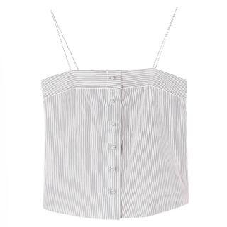 Club Monaco Button-up Striped Cami Top