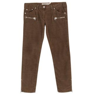 Isabel Marant Etoile Cropped Brown Cord Jeans