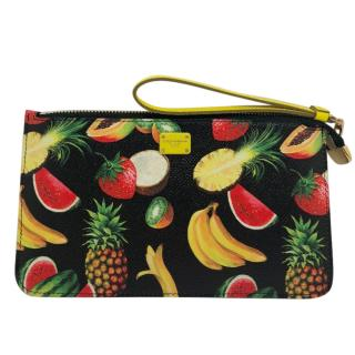 Dolce & Gabbana Fruit Print Clutch