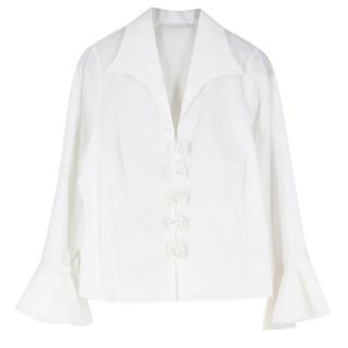 Anne Fontaine Rose Embroidered Shirt