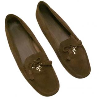 Prada Driver Women's Suede Loafers