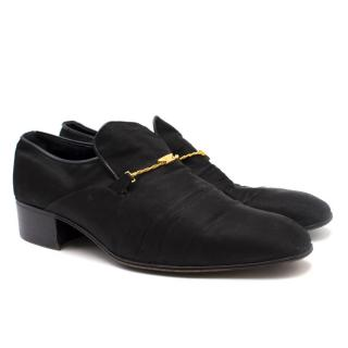 Rossini Men's Black Satin Loafers