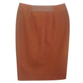 Acne Brown pencil skirt