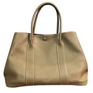 Hermes Taupe 36cm Garden Party Bag