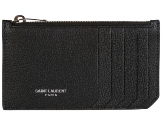 Saint Laurent Classic 5 Fragments Zip Pouch Card Holder