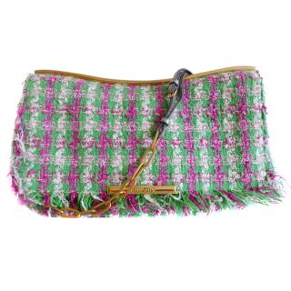 Miu Miu tweed shoulder bag