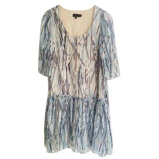 Mulberry silk printed dress