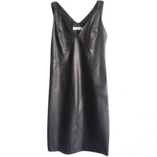 Christian Dior black leather dress